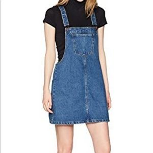 Lily Parker Denim Overall Dress Size Small